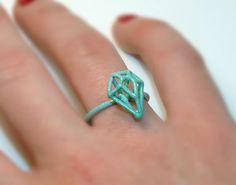Exo-gem ring, small pear