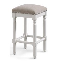 More click [.] Backless Bar Stool Height White Backless Counter Stool Home Depot American Woodcrafters Andover 26 In White Backless Counter Bar Stool Cushions, Bar Stool Chairs, Swivel Counter Stools, White Bar Stools, Cool Bar Stools, Stool Height, Backless Bar Stools, Hickory Chair, Hillsdale Furniture