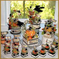 Gorgeous Halloween centerpieces via Patricia Minish Designs