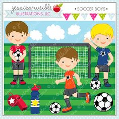 Items similar to Soccer Boys Cute Digital Clipart for Commercial and Personal Use, Soccer Clipart, Soccer Graphics on Etsy Girl Playing Soccer, Soccer Boys, Soccer Goalie, Basketball, Train Clipart, Cute Clipart, Girl Clipart, Cute Alphabet, School Clipart