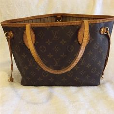 """LOUIS VUITTON Monogram NEVERFULL PM Tote bag LV Authentic: Condition: This bag is used and have sign of wear but still in good condition.  Hardware has Some scratches, but still not really noticeable. Please see the pics for more detail and condition  Size:  H: 11.22"""" L: 8.66"""" W: 5.11""""  Shoulder strap/ Handles Length: 16.14"""" Made In: France Date Code: VI4007 Any questions please feel free to ask Thanks for stopping by, happy shopping Louis Vuitton Bags Shoulder Bags"""