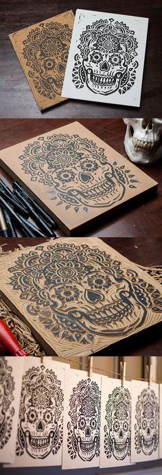 Mandala-skull-set