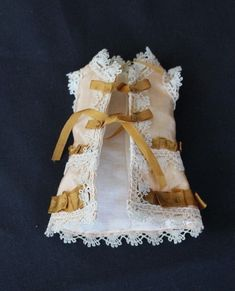 """Antique silk dress for french mignonette - 4.5"""" to 5.5"""" all bisque doll 