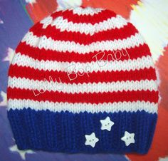 I want this for Kris's coming home! Red White and Blue Infant Knit Beanie / by LollyBopBoutique, $20.00