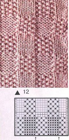 Mitja-punts...  --This pattern would be great for a child's sweater.