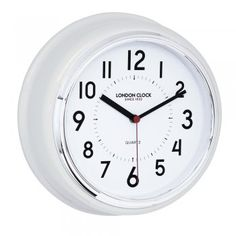 London Clock Co 30cm White Round Wall Clock - London Clock Co from The Giftery UK