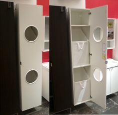 LILLÅNGEN Laundry cabinet from IKEA.  $119 for wall mount and $134 includes stainless steel leg frame (not shown)