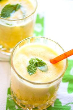 Orange and Pineapple Juice with mint
