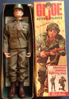 HASBRO: 1964 GI Joe Action Soldier #Vintage #Toys