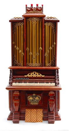 Vtg Dollhouse Miniature Artisan George Becker Victorian Pipe Organ Handcrafted #Unbranded