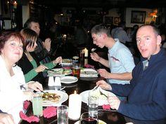 2007 - dinner at Slaley Hall's bar - Mary Watson, Jo P, Andy, Paul P and Tony Burgess
