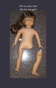 Seams Inspired: Tutorial - Repair Your 18-inch Doll's Leg