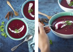 This Beetroot & Reinette Apple Soup recipe is healthy, vegan and delicious!