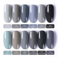 BORN BEAUTIFUL nail gel set Soak UV gel polish Useful and life-saving data ; Cute Acrylic Nails, Cute Nails, Pretty Nails, Hair And Nails, My Nails, Oval Nails, Shellac Nails Fall, Nail Polish Kits, Gel Nail Polish Colors