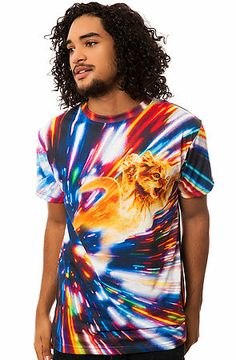The Cat Vortex Tee in Multi by Beloved