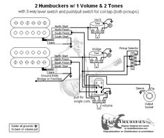 guitar wiring diagram 2 humbuckers 3 way toggle switch 1 volume 2 2 humbuckers 3 way lever switch 1 volume 2 tones coil