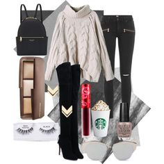 Fall OOTD 2015 - Taupe Look by gloriacsibarani on Polyvore featuring polyvore, fashion, style, Paige Denim, Aquazzura, Henri Bendel, Leslie Danzis, Christian Dior, Hourglass Cosmetics, Ardell, Lime Crime and OPI