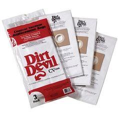H-P Products Dirt Devil CV1500 Vacuum Filter Bag, (Pack of 3, Grey smoke