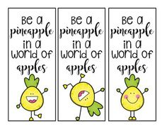 Enjoy these cute pineapple book marks for your kiddies! Perfect for your pineapple themed classroom!