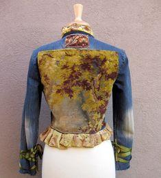 Jean Jacket  Victorian Style with Oak Tree door stacyleighatelier