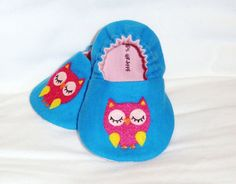 Lil Pink Owl Booties by Charlie's Giraffe - Hand cut & painted owls!