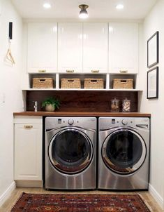Best 20 Laundry Room Makeovers - Organization and Home Decor Laundry room decor Small laundry room organization Laundry closet ideas Laundry room storage Stackable washer dryer laundry room Small laundry room makeover A Budget Sink Load Clothes