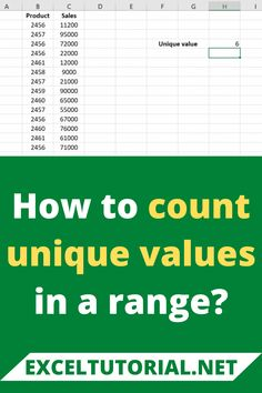 If you want to count the unique values in a range, you can do the same with the help of SUMPRODUCT Function and COUNTIF Function. Counting, The Help, Range, Tutorials, Unique, Computer Science, Stove, Range Cooker, Wizards
