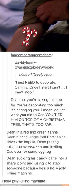 Dean is a Holly Jolly Killing Machine<--oh my god XD