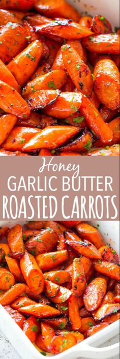 Honey Garlic Butter Roasted Carrots Recipe – Easy, simple, wonderfully delicious roasted carrots prepared with the most incredible garlic butter and sweet honey sauce.Cooked to a delicious and tender perfection, these Honey Garlic Butter Roasted Carr. Vegetable Side Dishes, Vegetable Recipes, Vegetarian Recipes, Cooking Recipes, Healthy Recipes, Hot Veggie Side Dish, Good Recipes, Cooking Vegetables, Garlic Recipes