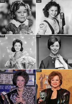Shirley Temple through the years. One of a few child stars who did not self destruct. That's one reason I admire her so much.