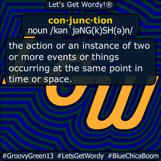 conjunction 12/21/2020 GFX Definition of the Day con·junc·tion noun /kənˈjəNG(k)SH(ə)n/ #action or an #instance of #two or more #events / things occurring at the same #point in #time / #space #dailyGFXdef Beaufort Scale, American Carnage, Clinton Foundation, Christian Christmas, Albedo, Definitions, The Voice, Let It Be