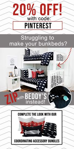 "Start your morning off right! With Beddy's we make it easy! All you do is zip! Use code ""PINTEREST"" for 20% off!  #beddys #beddysbeds #zipperbedding #zipyourbed #bunkbeds Floating Platform Bed, Platform Bed With Drawers, Wood Platform Bed, Girls Bedroom, Bedroom Decor, Bedroom Ideas, Beddys Bedding, Twin Storage Bed, Zipper Bedding"