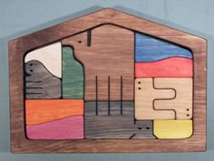 Wooden Framed Puzzle <br>- NATIVITY SCENE SET <br>- Colored Components