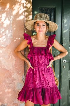 Cayman Eyelet Dress