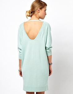 Enlarge Selected Knitted Dress with Scoop Back