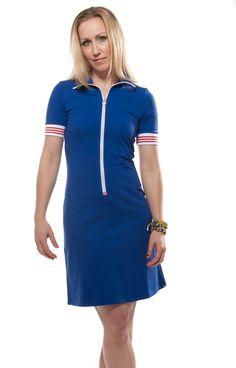 Blauw rits jurkje Zendee