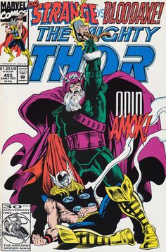 Cover for Thor #455 (Marvel Early December 1992) #455
