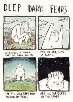 Describing fear of dark?