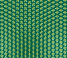 The Bunny Band Collection - green flower fabric by bora on Spoonflower - custom fabric