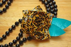 Love this leopard Duck Tape flower