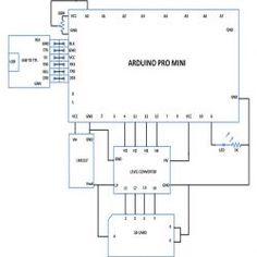 Circuit diagram to make a Solar Tracker using Arduino