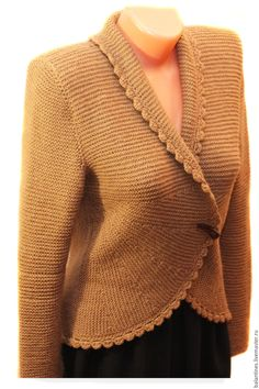 Wool cardigan / Woman clothing / Sweater coat / woman clothing / Hand knit jacket for stylish women from merino and alpaca. Classic model, which suggests simplicity and elegance. Very feminine. MADE TO ORDER any color and any size Купить Жакет вязаный Жакет женский Вязаная кофта спицами - серый, однотонный, Жакет вязаный