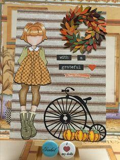 Autumn, Thanksgiving Journal Page. Julie Nutting dolls. Prima dolls. Made by Libelula Isabel