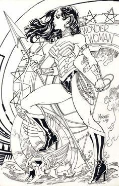 Wonder Woman by Gilbert Monsanto  Comic Art