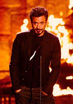Robert Downey Jr. I'd definitely fangirl it up if I ever met him.