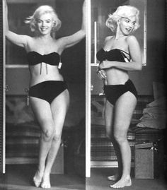 When I'm spinning and depressed about the dreaded swimsuit season I look to my inner Marilyn for a sensible gauge of beauty! Thank you for this real shot of an American icon...
