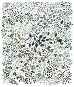 illustrations by artist Anna Emilia . apple blossom, snowing, spring is coming and spring bracelet Pattern Illustration, Botanical Illustration, Nature Illustration, Pretty Patterns, Beautiful Patterns, Surface Pattern Design, Pattern Art, Arte Popular, Textile Patterns