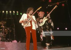 Photo of Trevor RABIN and Chris SQUIRE and YES; Trevor Rabin and Chris Squire performing live onstage
