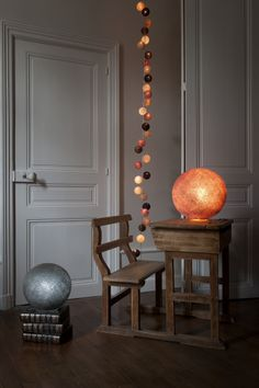 Kensington Suggestion Balls), S Graphite Ball On A Base And M Old Pink Ball  On A Base. Djoulaie09 · Guirlande Lumineuse Chambre Enfant