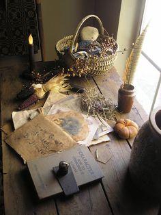 autumn nature table...